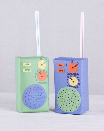 It's always fun to recycle household items into something great. Here's a quick and easy way to turn a used juice box into a police radio for hours of play!