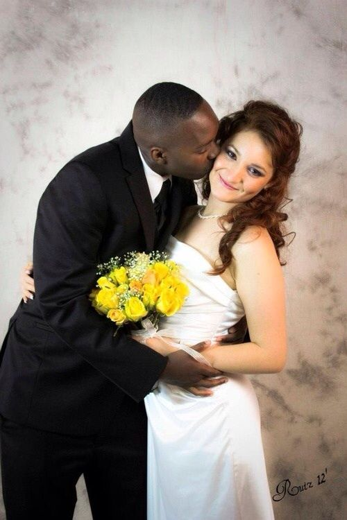 Black And Mexican Newlyweds  Interracial Couples -6368