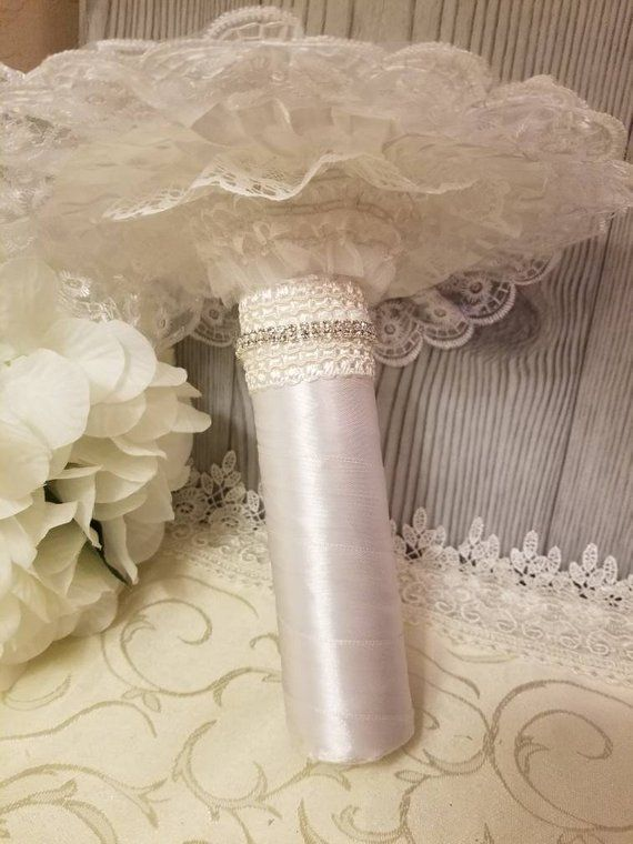 This Bouquet Holder Comes Witha 9 Diameter White Lace Bouquet