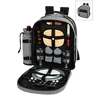 Picnic at Ascot Picnic Backpack Cooler for Two