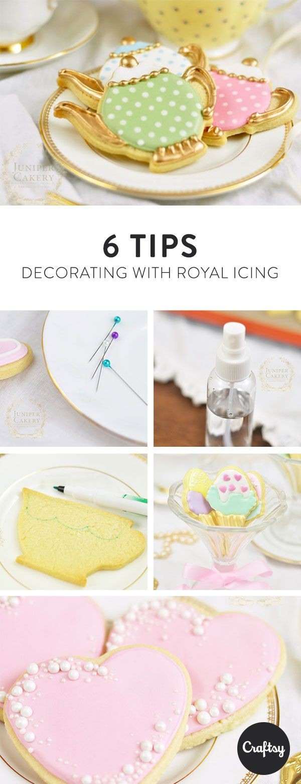 Why make a cake when you can bake beautiful cookies instead? These iced cookies are perfect for a tea party... or any party in general. Read our 6 must-know tips for decorating with royal icing and you'll soon have cookies just like the photos.