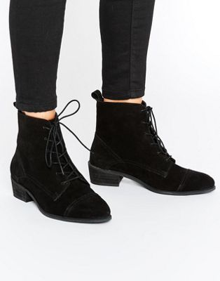 ASOS AURORA Wide Fit Suede Lace Up Boots