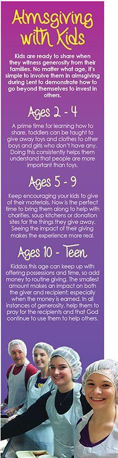 Lent: Almsgiving with Kids