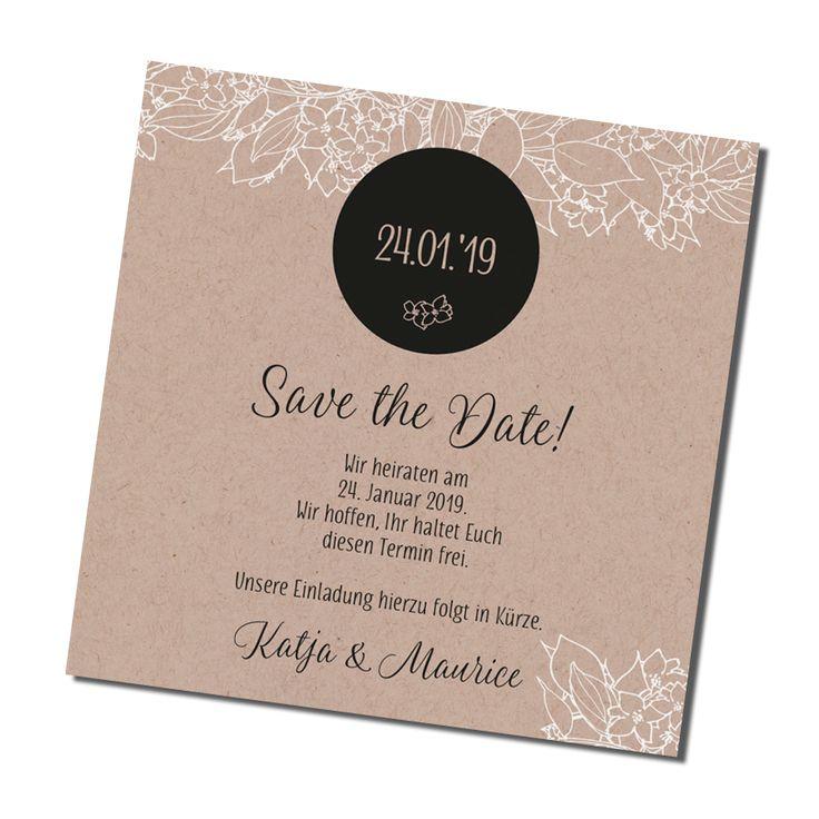 Moderne Save The Date Karte Online Bestellen