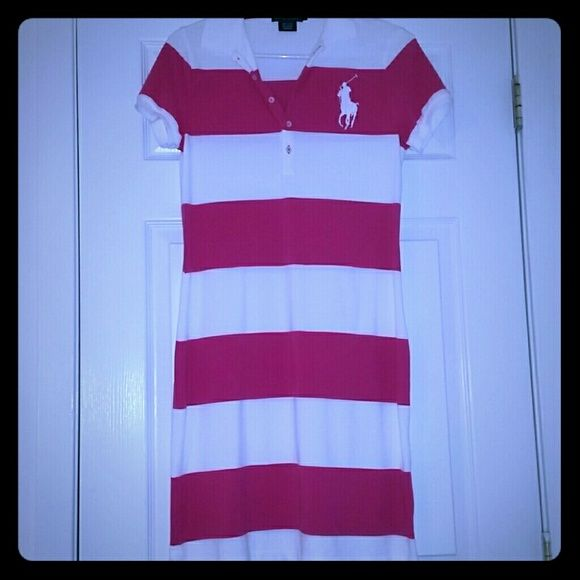 NWOT🆕Ralph Lauren Signature Polo Dress NWOT It's a classic!  The Ralph Lauren striped Polo dress!   Mint Condition! NEVER WORN out and about - worn around house 1 time for maybe 15? minutes trying to find something to wear, decided against it, then washed, & stored / forgotten about since. Have questions? Ask! My closet is set up for auto bundles! Need more than 3 items? Lmk for bigger duscount! Ralph Lauren Dresses