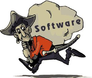 Pirated software even outstrips free software as the cost factor is negated.