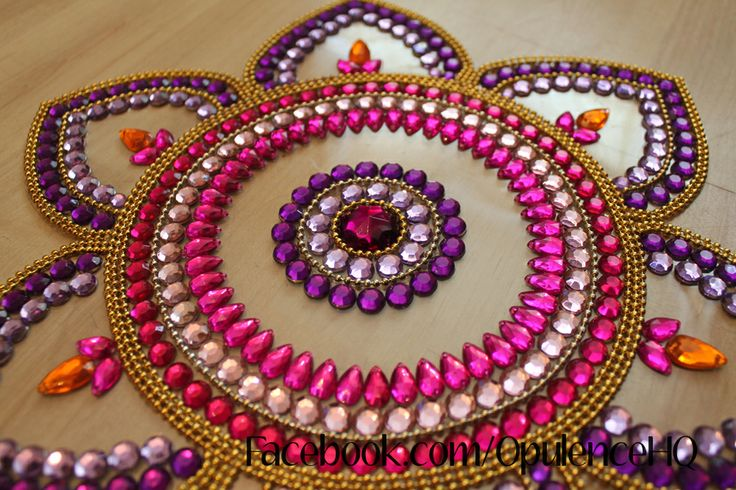 Kundan rangoli tealight candle decoration handmade by Opulence. Also great for wedding decorations.  £15.00 OpulenceHQ@outlook.com