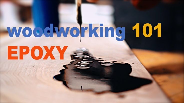 WOODWORKING101- How to pour EPOXY - YouTube
