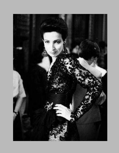Betty Lago at Backstage of YSL