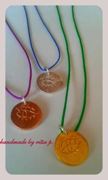 """Silver necklace """"eye""""goldplatted in 3 colours..."""