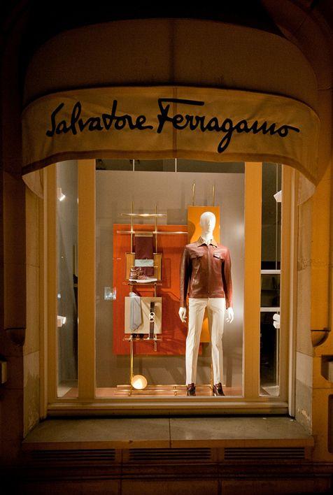 Salvatore Ferragamo SS window 2015, Paris, Lo Studio design www.lostudiodesig...