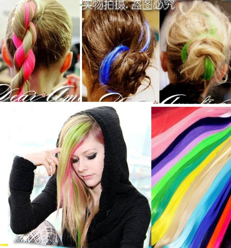 8 Best Colored Hair Extensions Images On Pinterest Airbrush Tattoo