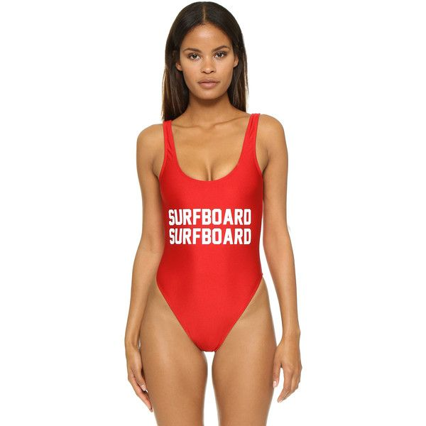 Private Party Surfboard Surfboard One Piece Bathing Suit ($100) ❤ liked on Polyvore featuring swimwear, one-piece swimsuits, red, red one piece swimsuit, one piece swim suit, swimsuit swimwear and red bathing suit