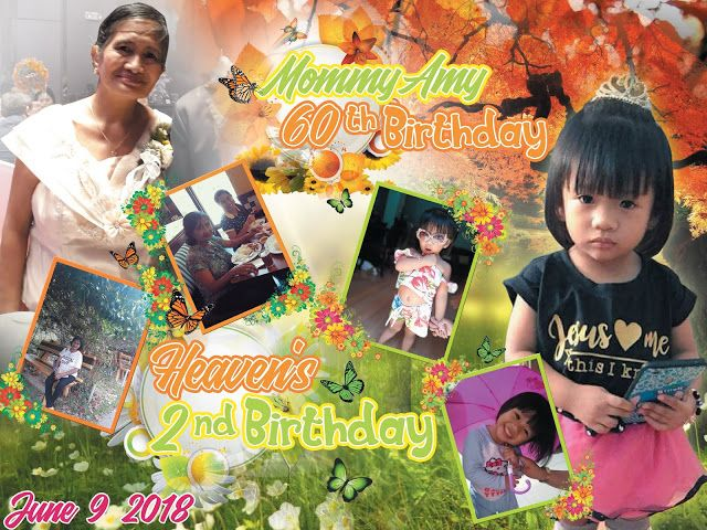Spring And Autumn Sample Tarpaulin Design For Double Birthday