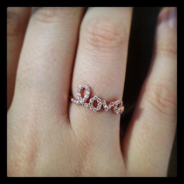 Rose Gold Love Ring
