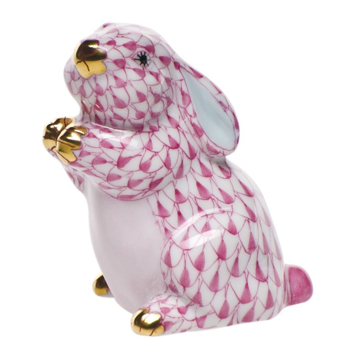 Herend Raspberry Pudgy Bunny $200.00