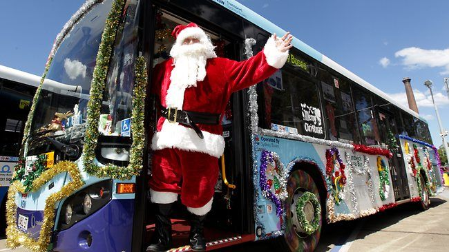 Christmas bus in Sydney Australia, Decorated a part of the annual christmas decoration competition