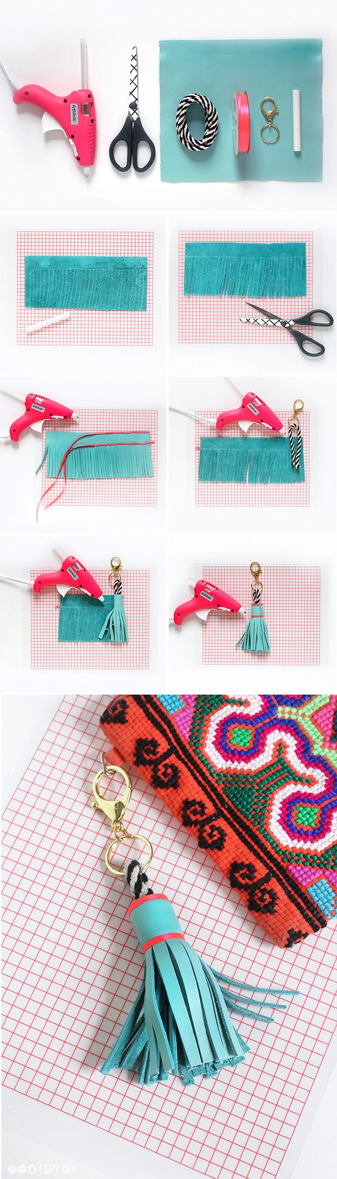 » MY DIY | Leather Tassel Keychain