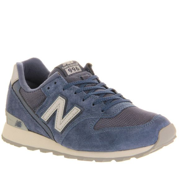 New Balance Wr996 (€41) ❤ liked on Polyvore featuring shoes, sneakers, trainers, hers trainers, navy, navy sneakers, navy blue leather shoes, genuine leather shoes, navy blue leather sneakers and navy shoes