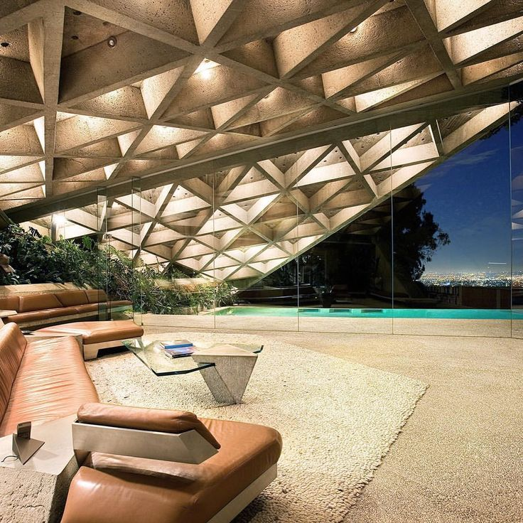 """13.8k Likes, 53 Comments - ARCHITECTURE HUNTER (@architecture_hunter) on Instagram: """"#architecture_hunter  GoldStein House, by John Lautner Photographer: Jeff Green"""""""