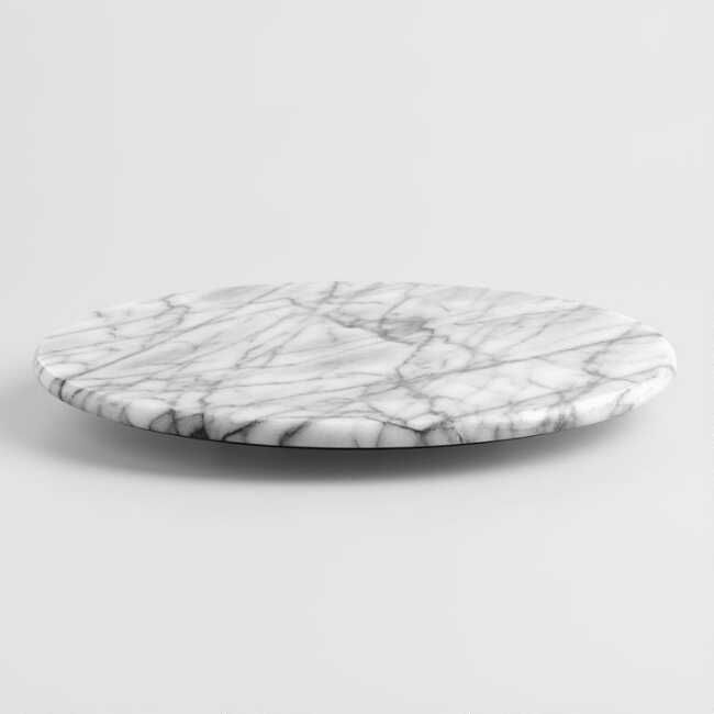 Our White Marble Lazy Susan Keeps The Table Organized And Accessible To All With A Simple Rotation Ideal For Holding Marble Lazy Susan Lazy Susan World Market