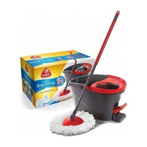 Mop-Bucket-Set-Easy-Wring-Spin-O-Cedar-Floor-Cleaning-Kitchen-Tile-Microfiber
