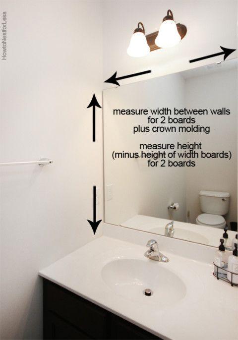 How To Frame A Bathroom Mirror Builder Grade Bathroom Mirrors And House