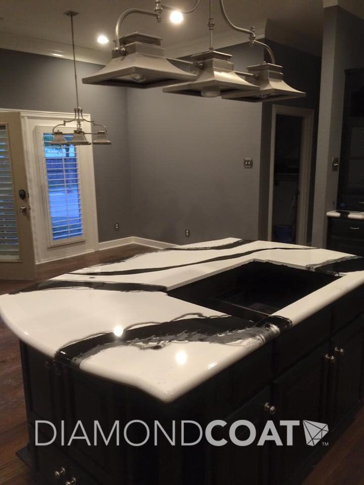 Kitchen Countertop Epoxy Paint : ... Epoxy Countertop on Pinterest Stain Concrete, Countertops and