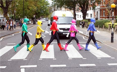 The Beatles meet Power Rangers.