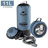 Amazon.com : Ivation Portable Outdoor Shower, Battery Powered - Compact Handheld Rechargeable Camping Showerhead - Pumps Water from Bucket Into Steady, Gentle Shower Stream : Sports & Outdoors