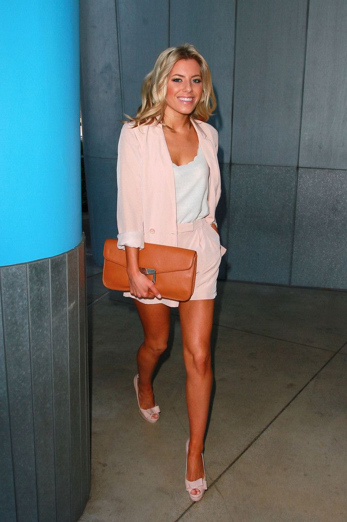 Mollie+King in Frankie Sandford and The Saturdays Out in Santa Monica