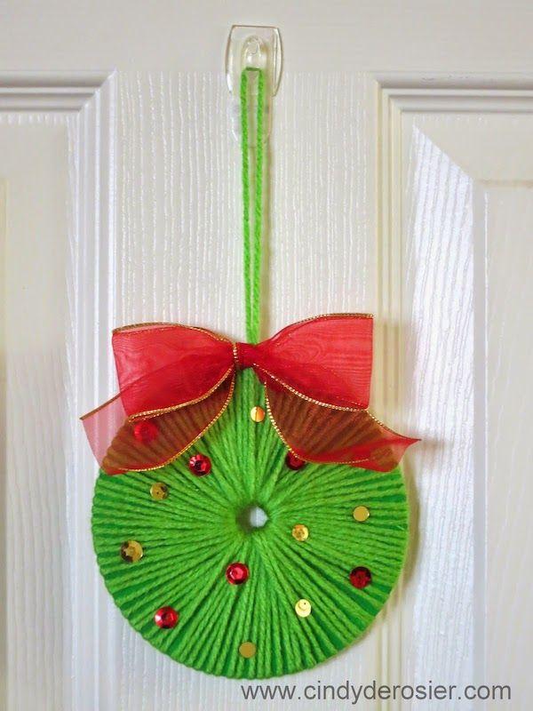 coronas de navidad para hacer con los nios