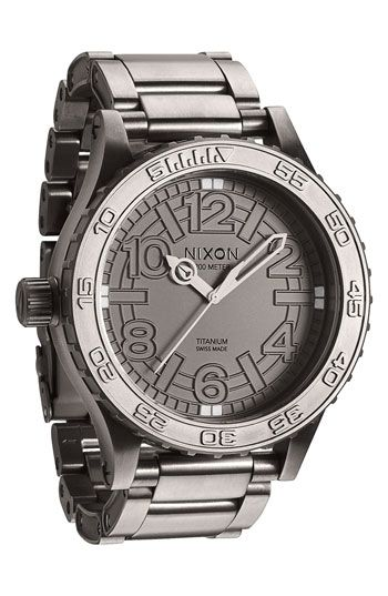 Nixon '51-30 TI' Titanium Bracelet Watch available at #Nordstrom