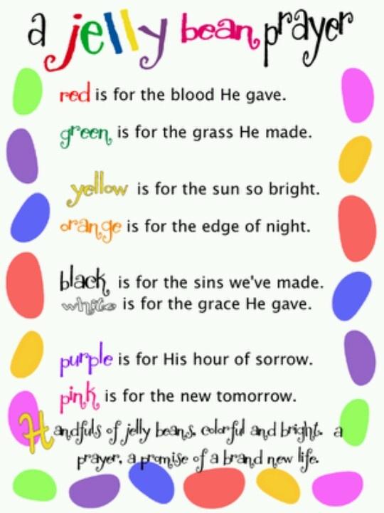 The Jellybean Prayer | 2 teach Pre-k religion | Pinterest ...