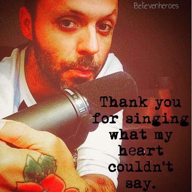 For @meghan.earhart I don't have a Facebook but she does and she runs this group called Believenheroes…Justin Furstenfeld. It's a group about Justin, his lyrics and music. If you're on Facebook, maybe check it out. She's a really sweet person too.  click on hashtag for more ➡️➡️➡️ #Believenheroes