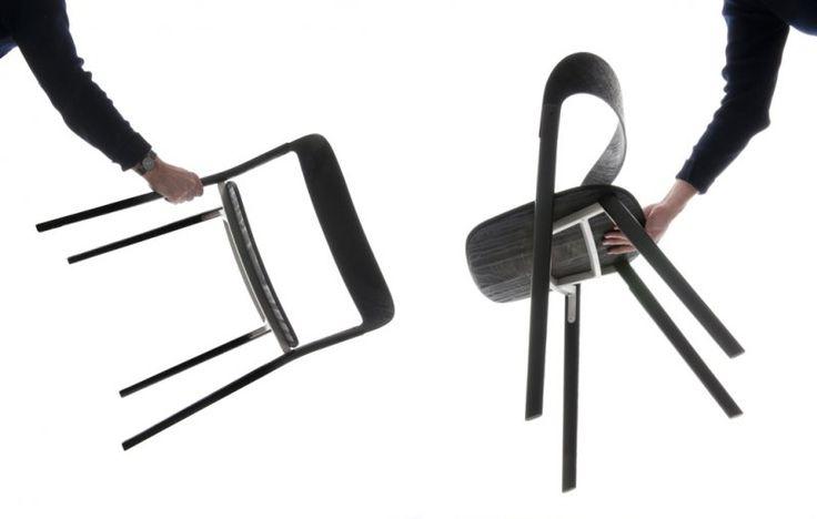 Pila Chair  Plain wood, ply wood, die cast aluminium 455 x 660 x 770 mm