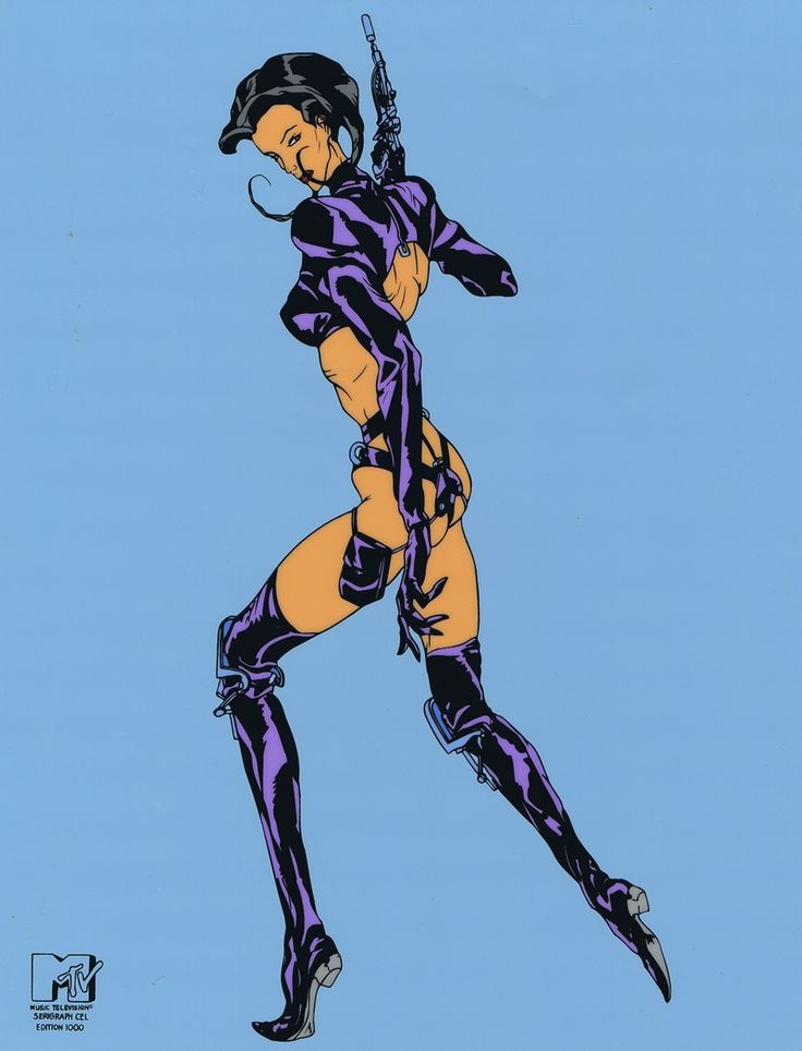 Aeon Flux Limited Edition of 1000 Cel MTV Seal COA Animation Art Large Image | eBay