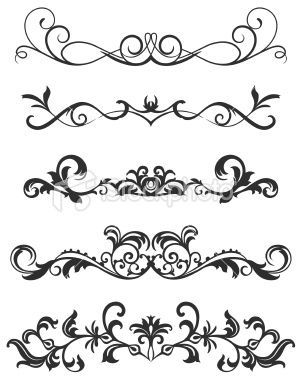 Fancy Scroll Designs Scroll Design Royalty Free