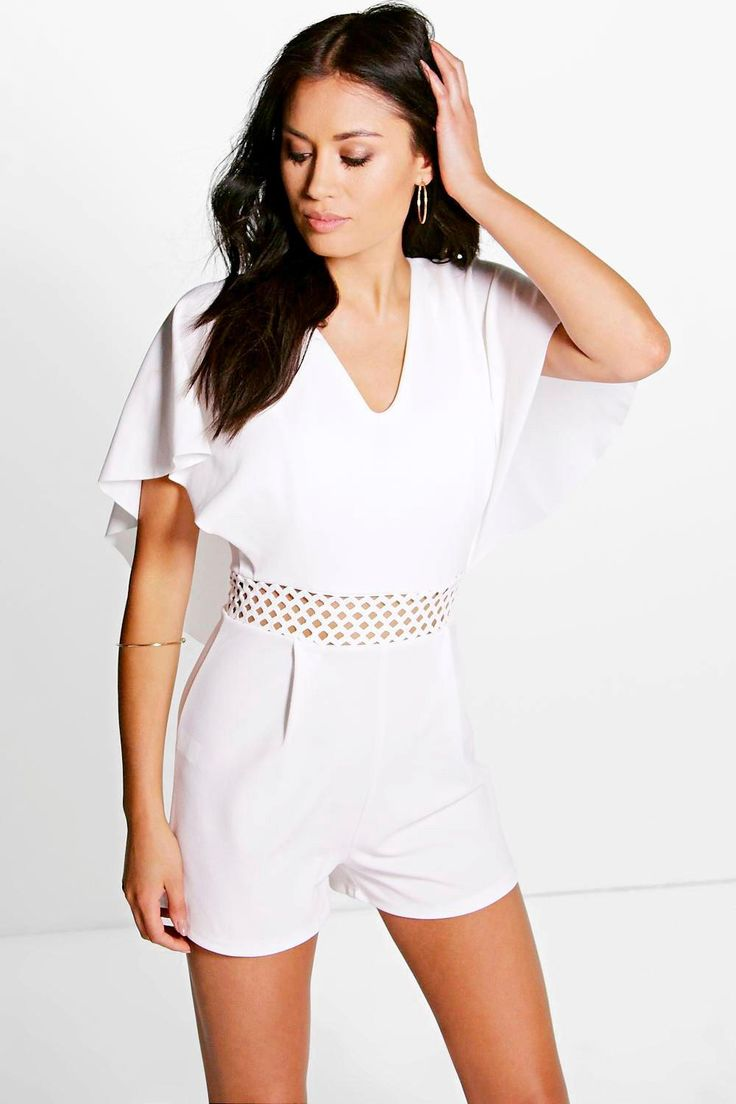 Anna Crochet Insert Cape Back Playsuit