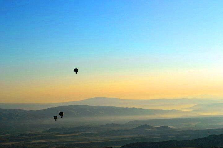Sunrise viewed from a Hot Air Baloon.... Cappadocia, Turkey