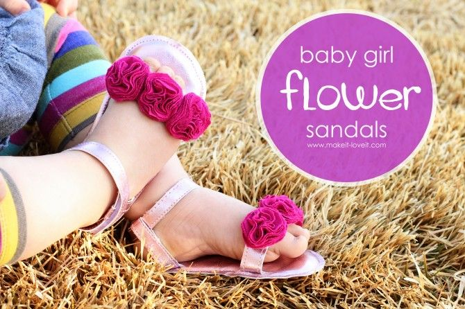 diy baby girl sandals!