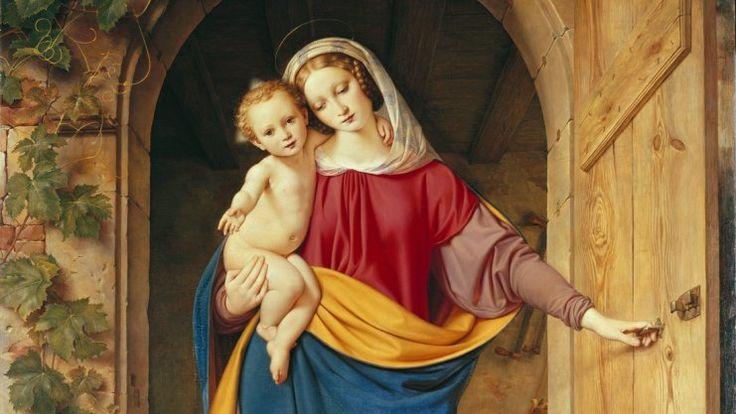 """Die Ausstellung zeigt verschiedene Marien-Darstellungen, unter anderem """"Madonna in der Werkstatt -Tür"""". Foto: Landesmuseum Hannover"""