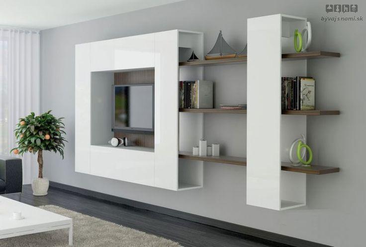 Obývacia stena BRILIANT V - Moderná obývačka - Obývacie steny