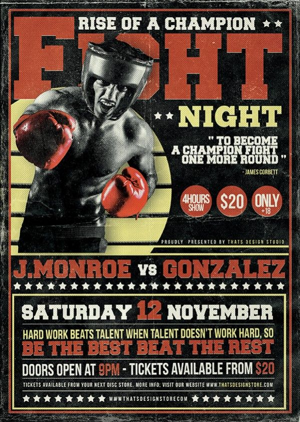Best 25+ Fight night boxing ideas on Pinterest Boxing results - ufc flyer template