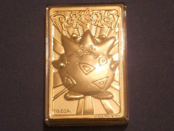Pokemon 23k Gold Plated Trading Card Togepi Burger King