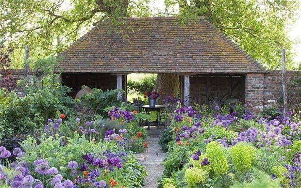 Sarah Raven's oast garden. Self sown plants
