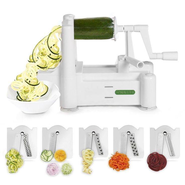 AmazonSmile: Spiralizer 5-Blade Vegetable Slicer, Strongest-and-Heaviest Duty, Best Veggie Pasta & Spaghetti Maker for Low Carb/Paleo/Gluten-Free Meals, With 3 Exclusive Recipe eBooks: Kitchen Small Appliances: Kitchen & Dining