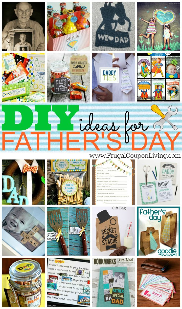 DIY Father's Day Craft Ideas for the Kids - we love this round-up of Fathers Day Gifts for Dad that are homemade, creative and fun!