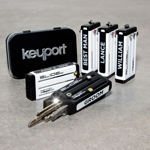 Keyport Groomsman Gifts - Get them something they will use every day. Removable side plates let you customize the message on the big day, and then change them out later.