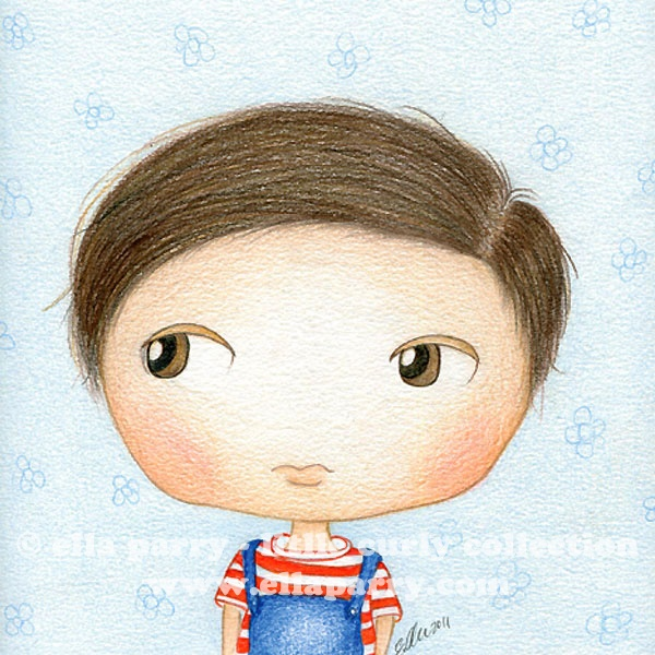 This is Little Curly's little brother - Ah Kong © ella parry - little curly collection